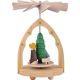 1 - Tier Mini Pyramid Nativity Scene  -  10cm / 4 inch
