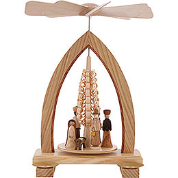 1 - Tier Pyramid  -  Nativity Scene  -  25cm / 10 inch