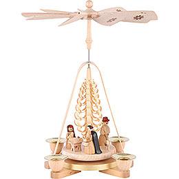 1 - Tier Pyramid  -  Nativity Scene  -  28cm / 11 inch