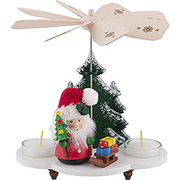 1 - Tier Pyramid  -  Santa Claus with Sleigh  -  19,5cm / 8 inch
