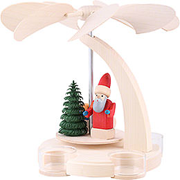 1 - Tier Pyramid  -  Santa with Sled  -  18cm / 7 inch