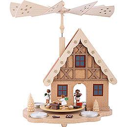 1 - stöckige Pyramide Haus Engelbäckerei für Teelichter  -  29cm