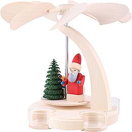 1 - stöckige  Pyramide  -  Weihnachtsmann mit Schlitten  -  18cm