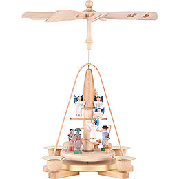 1 -  tier Pyramid Angel staircase  -  11 inch  -  28cm