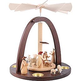 1 - tier pyramid with Nativity scene