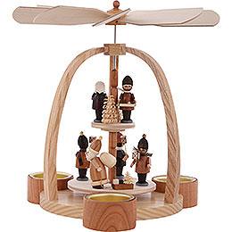 2 - st�ckige Pyramide Teelichtpyramide Striezelkinder  -  24cm