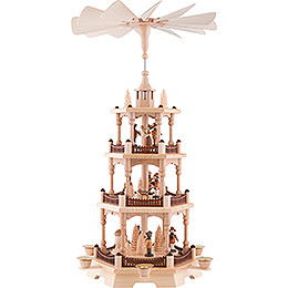 3 - tier pyramid forest people  -  58cm / 22.8inch