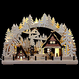 3D Candle arch Christmas preparations  -  43x30cm/ 17x12inch