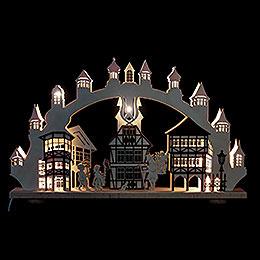 3D - Doppelschwibbogen  -  Altstadt mit Innenbeleuchtung  -  66 x 43 x 6cm