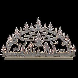 3D - Doppelschwibbogen  -  Waldmotiv  -  72 x 40 x 5,5cm