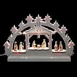 3D Double Arch  -  Nativity  -  42x30x4,5cm / 16x12x2 inch