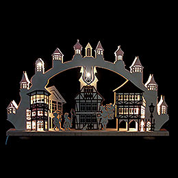 3D Double Arch  -  Old Downtown Illuminated  -  66x43x6cm / 26x2,5x17 inch