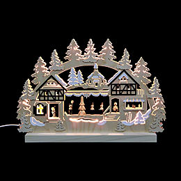 3D Double Arch  -  Seiffen Christmas Fair  -  42x30x4,5cm / 16x12x2 inch