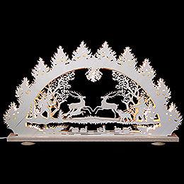 3D - Lichterbogen  -  Springende Hirsche  -  66 x 43 x 6cm