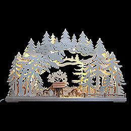 3D Schwibbogen  -  Rehe im Wald  -  72x43x8cm