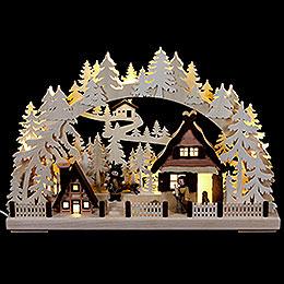 3D Schwibbogen Weihnachtsvorbereitung  -  43x30cm