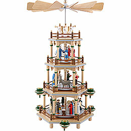 4 - tier pyramid  -  Nativity Scene  -  45cm / 18 inch