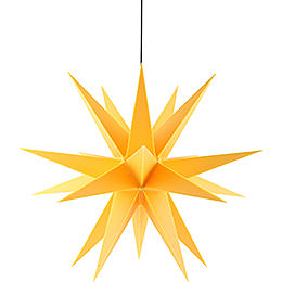 Advents star for inside and outside use, yellow  -  60cm / 23.6inch