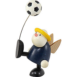 Angel Hans with football balancing  -  7cm / 2.8inch