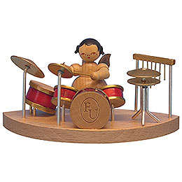 Angel at Drums Fitting Cloud Connector System  -  Natural Colors  -  Standing  -  6cm / 2,3 inch