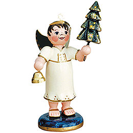 Angel boy with christmas tree  -  6,5cm / 2,5inch