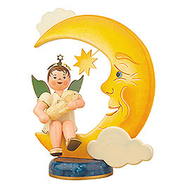 Angel boy with moon and sheep  -  20cm / 8inch