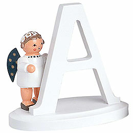 """Angel letter """"A""""  -  7cm / 2.8inch"""