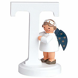 "Angel letter ""T""  -  7cm / 2.8inch"