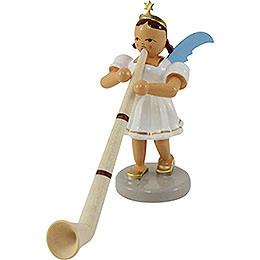 Angel short skirt colored, alp horn  -  6,6cm / 2.5inch