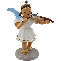 Angel short skirt colored, violin with SWAROVSKI ELEMENTS -  6,6cm / 2.5inch