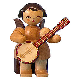 Angel with Banjo  -  Natural Colors  -  Sitting  -  5cm / 2 inch