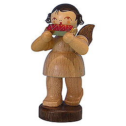 Angel with Harmonica  -  Natural Colors  -  Standing  -  6cm / 2,3 inch