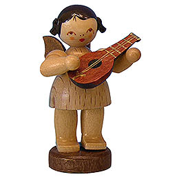 Angel with Mandolin  -  Natural Colors  -  Standing  -  6cm / 2,3 inch