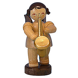 Angel with Saxophone  -  Natural Colors  -  Standing  -  6cm / 2,3 inch