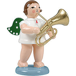 Angel with Tenor Horn  -  6,5cm / 2.5 inch