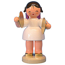 Angel with cymbal  -  Red Wings  -  standing  -  9,5cm / 3,7 inch