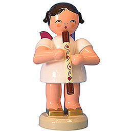 Angel with didgeridoo  -  Red Wings  -  standing  -  9,5cm / 3,7 inch