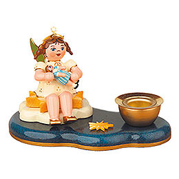 Angel with doll  -  Candleholder  -  6,5cm / 2,5inch