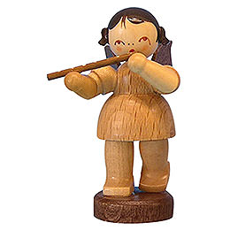 Angel with flute  -  natural colors  -  standing  -  6cm / 2,3 inch