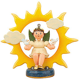 Angel with sun and doves  -  20cm / 8inch