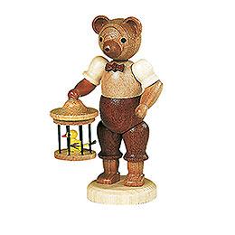 Bär mit Vogelkäfig  -  10cm