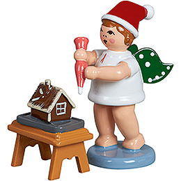 Baker angel with hat, icing set and ginger bread  -  6,5cm / 2.5inch