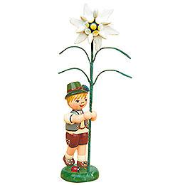 Blumenkind Junge mit Edelweiß  -  11cm
