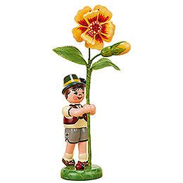 Blumenkind Junge mit Tagetes  -  11cm
