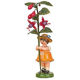 Blumenkind Mädchen Fuchsie  -  17cm