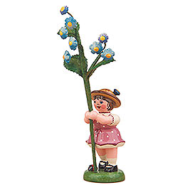 Blumenkind M�dchen mit Vergissmeinnicht  -  11cm