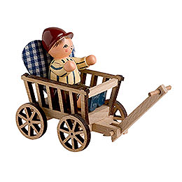 Boy with trolley  -  10cm / 4 inches