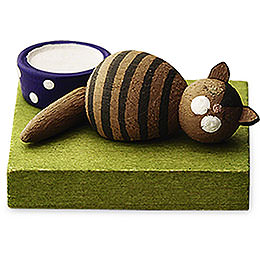 Brown cat, sleeping  -  1cm / 0.5inch