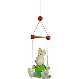 Bunny Max on swing  -  9cm / 3.5inch