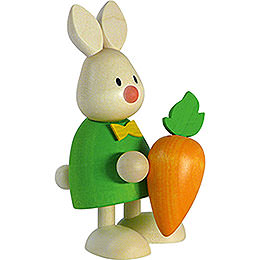 Bunny Max with large carrot  -  9cm / 3.5inch